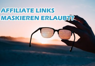 Business mit Kopf Affiliate Marketing Partner-Links maskieren erlaubt